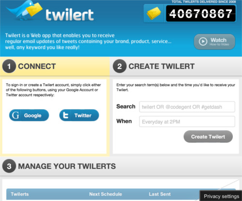 How to set up Twitter alerts for free using Twilert