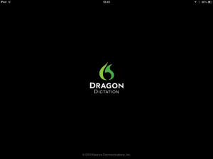 Dragon Dictation - speech to text application