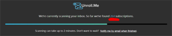 Unroll.me - scanning for newsletters